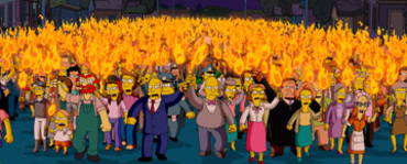 Simpsonsangrymob